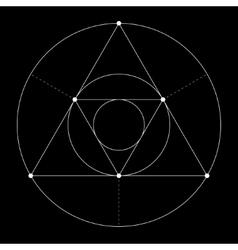 Harmonic in sacred geometry Plato The ratio of vector image