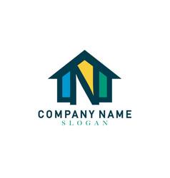 home letter n design vector image