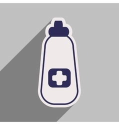 Icon of bottle of medicine in flat style vector