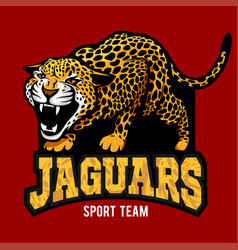jaguar mascot - emblem for sport team vector image vector image