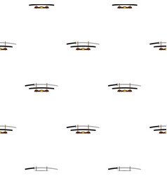 katana on wooden stand pattern seamless vector image