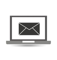 Laptop technology email message icon graphic vector