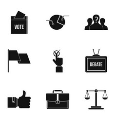 legal icons set simple style vector image