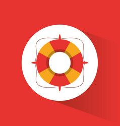 lifebuoy safety vacations symbol vector image