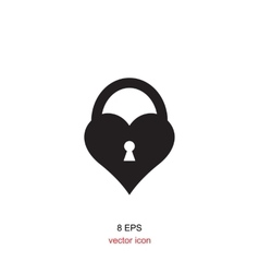 Lock Black And White Icon vector image vector image