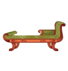 Luxurious dark green sofa vector