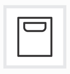 minimal shopping bag icon vector image vector image