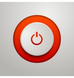 Red power button vector