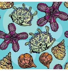shells seamless 380 vector image