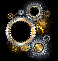 Steel Gears vector image vector image