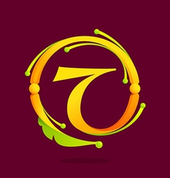 T letter monogram design elements vector