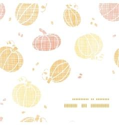 thanksgiving pumpkins textile frame corner pattern vector image vector image