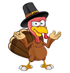 Turkey Mascot Confused vector image vector image
