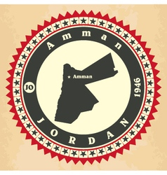 Vintage label-sticker cards of jordan vector