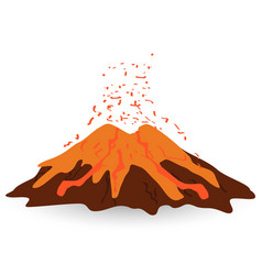 Volcano isolated on white photo-realistic vector