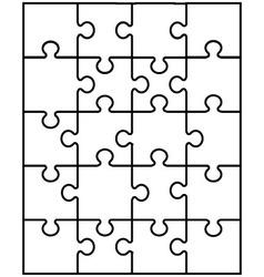 White puzzle 9 vector