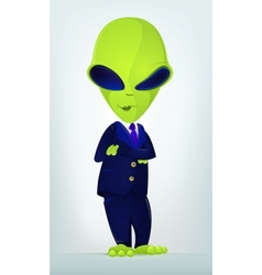 Funny alien vector