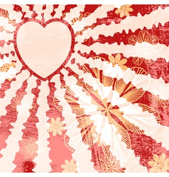 Red Grunge Valentine vector image