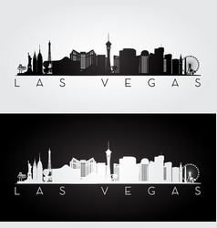 Las vegas usa skyline and landmarks silhouette vector