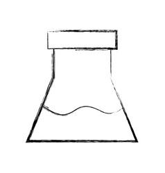 Figure erlenmeyer flask to scientific experiment vector