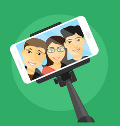 selfie with friends vector image
