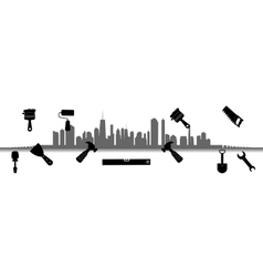 City tools for repair vector