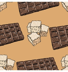 Seamless background with chocolate and sugar vector