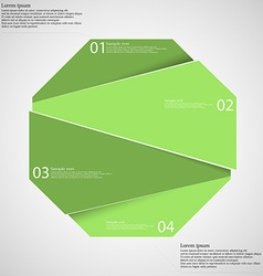 Infographic template with green octagon randomly vector