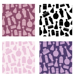 seamless cosmetic pattern vector image