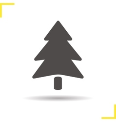 Fir tree icon vector