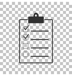 Checklist sign  dark gray icon on vector