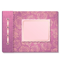 Pink fabric cover a photo album vector
