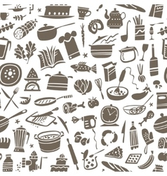 Cookery seamless background vector