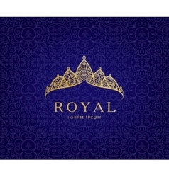 Abstract luxury royal golden company logo icon vector