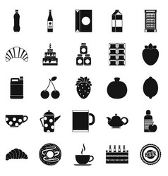 ale icons set simple style vector image