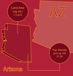 Arizona 3D info graphic vector image