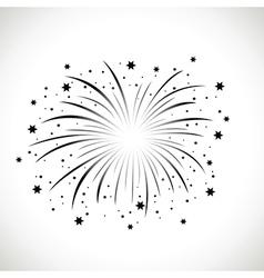 black firework vector image vector image