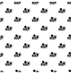 Broken hand and safety shield pattern simple style vector