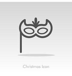 Christmas festive mask icon vector image