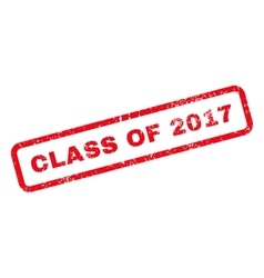 Class of 2017 text rubber stamp vector