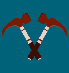 Crossed hammers Suitable for advertising vector image vector image