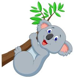Cute koala cartoon vector image vector image