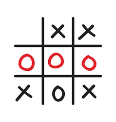 Doodle tic tac toe game vector