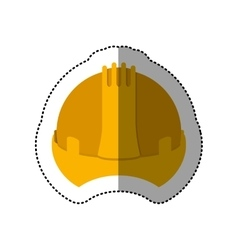 Dotted sticker construction helmet icon vector