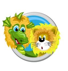 Dragon Leo Zodiac sign vector image
