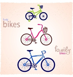 Family bikes vector image