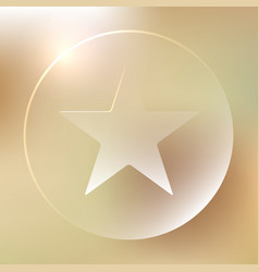 Favorite star glassy icon favorite star glassy vector