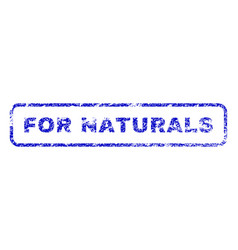 for naturals rubber stamp vector image