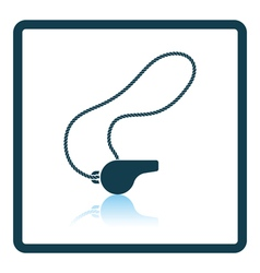 Icon of whistle on lace vector image vector image