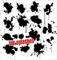 Ink splashes vector